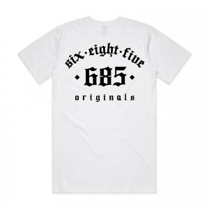 Original 685 Tee - White/Black Back