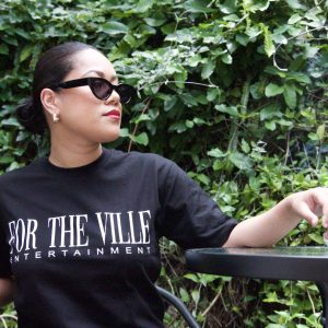 For The Ville Classic Tee - Black/White Print